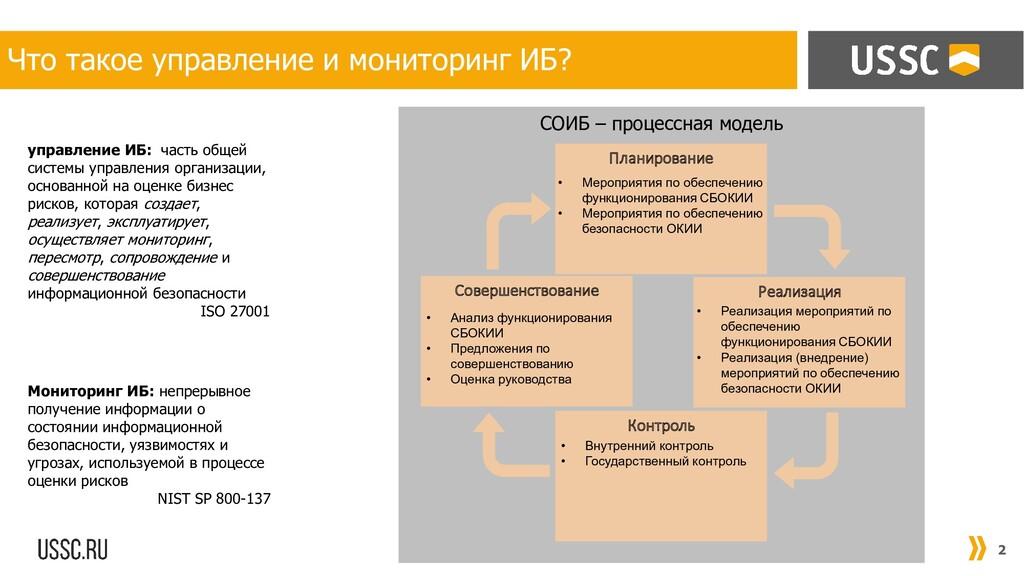 СОИБ – процессная модель 2 Что такое управление...
