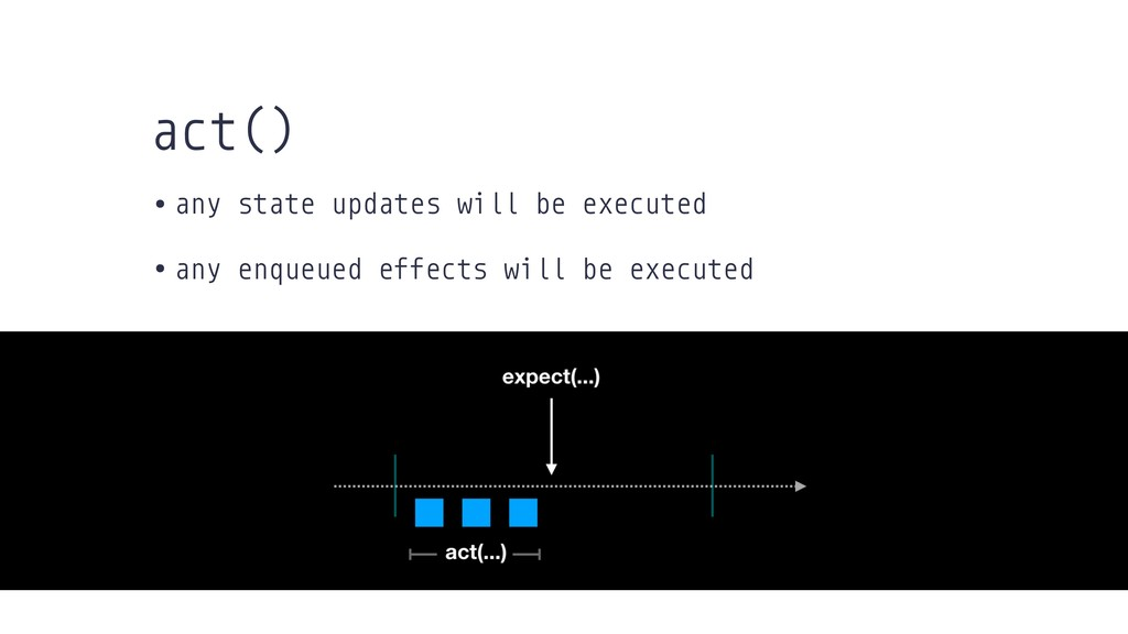 • any state updates will be executed • any enqu...