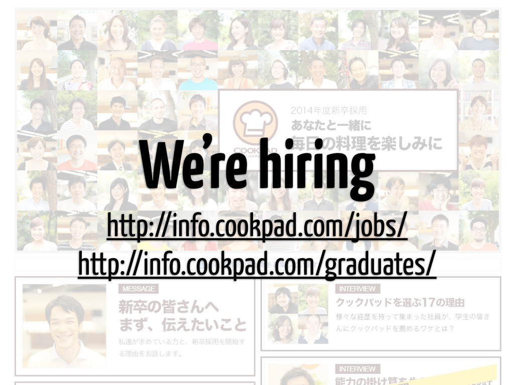We're hiring http://info.cookpad.com/jobs/ http...