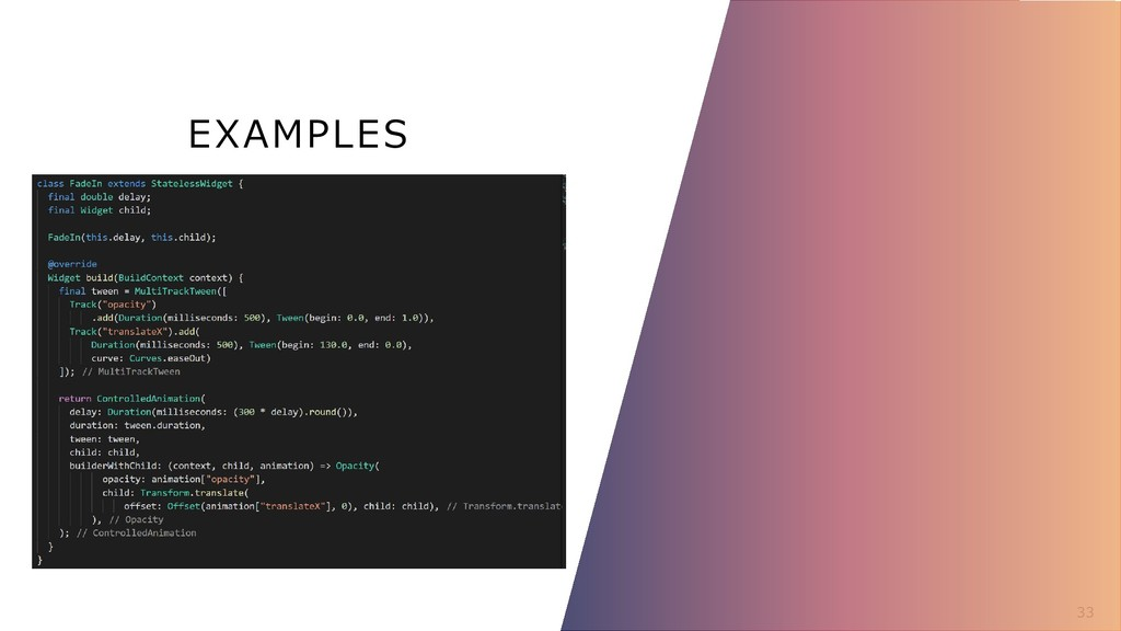 EXAMPLES 33