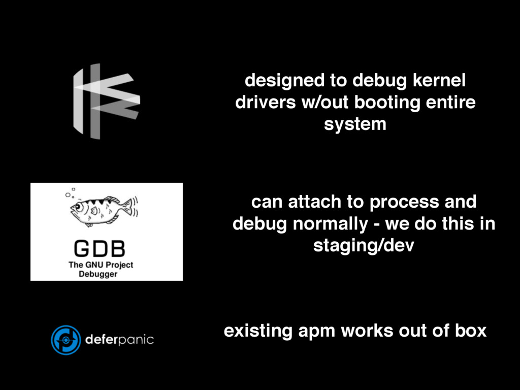 designed to debug kernel drivers w/out booting ...