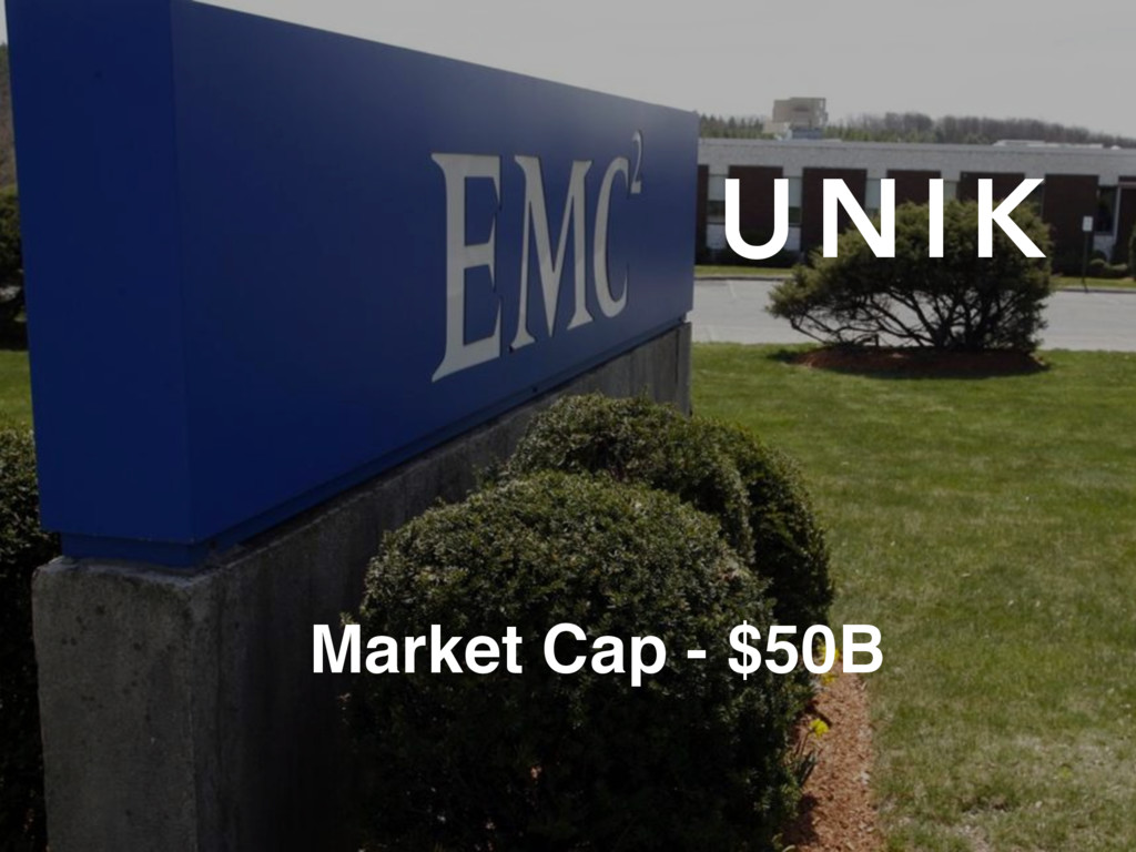 U N I K Market Cap - $50B