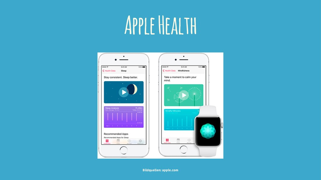 Apple Health Bildquellen: apple.com
