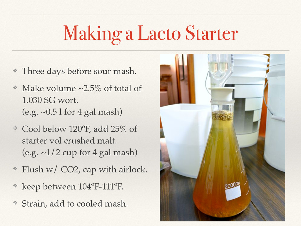 Making a Lacto Starter ❖ Three days before sour...