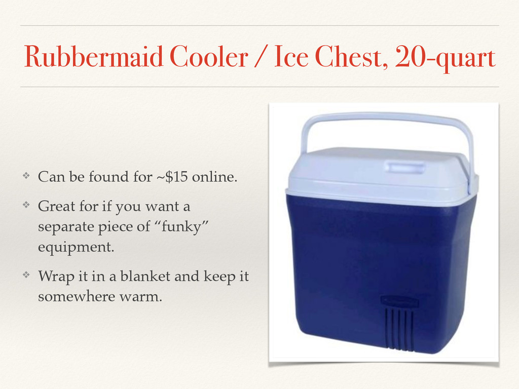 Rubbermaid Cooler / Ice Chest, 20-quart ❖ Can b...