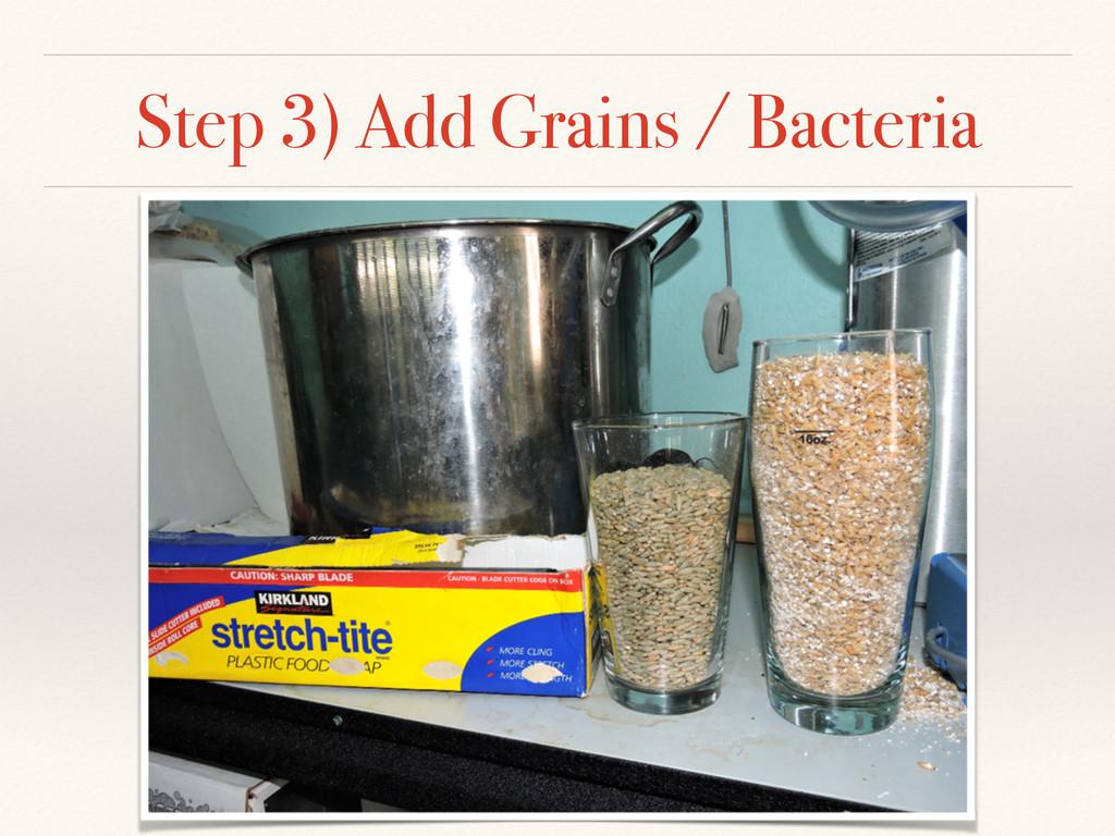 Step 3) Add Grains / Bacteria