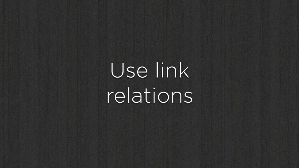 Use link relations