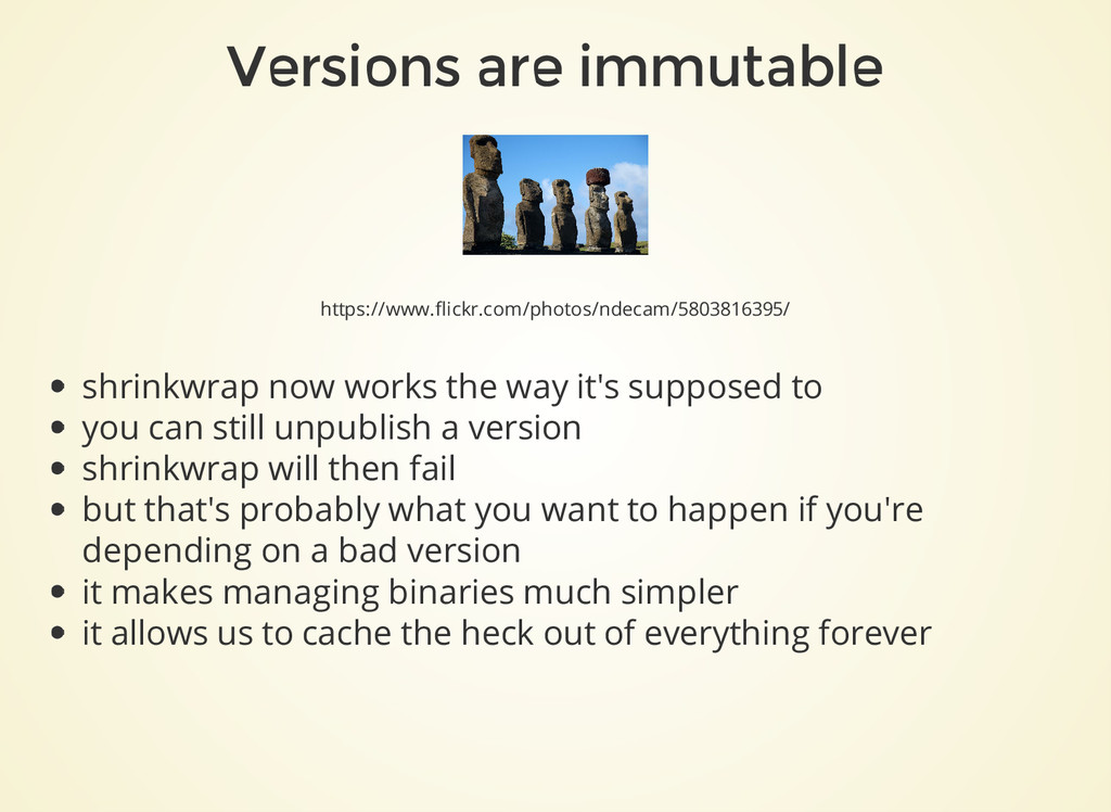 Versions are immutable https://www.flickr.com/p...