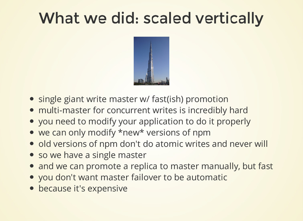 What we did: scaled vertically single giant wri...