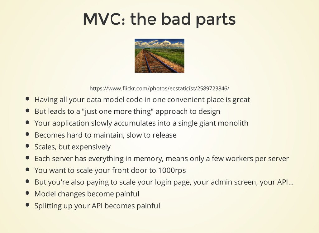 MVC: the bad parts https://www.flickr.com/photo...
