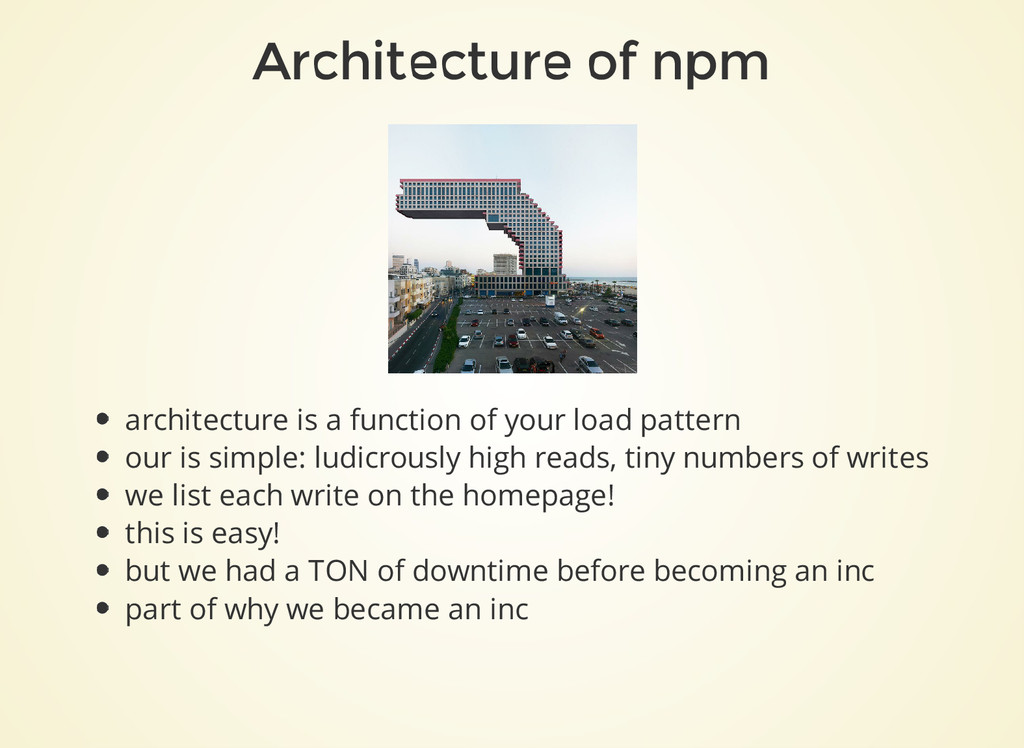 Architecture of npm architecture is a function ...