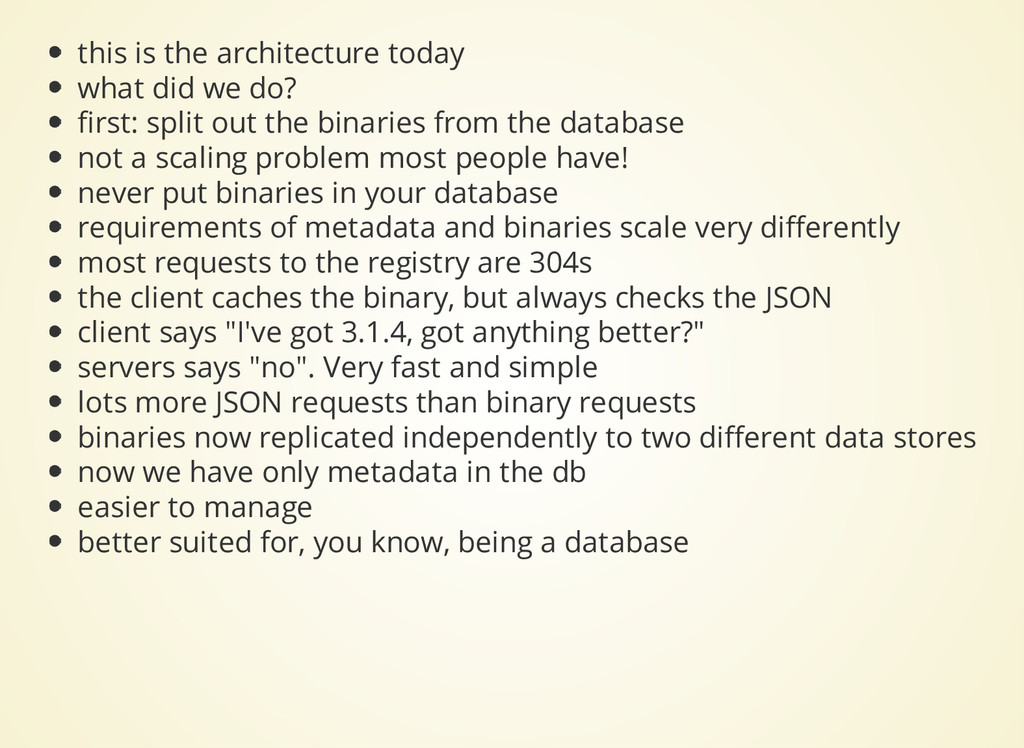 this is the architecture today what did we do? ...