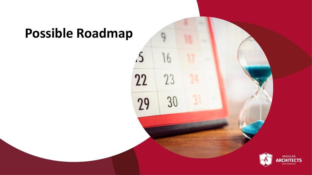 @ManfredSteyer Possible Roadmap