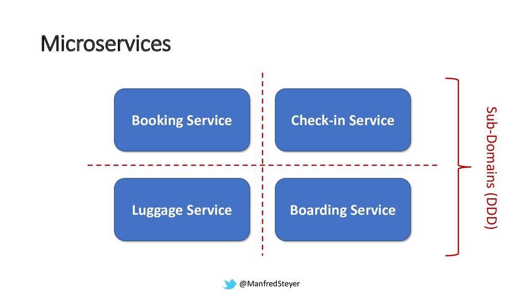 @ManfredSteyer Booking Service Check-in Service...