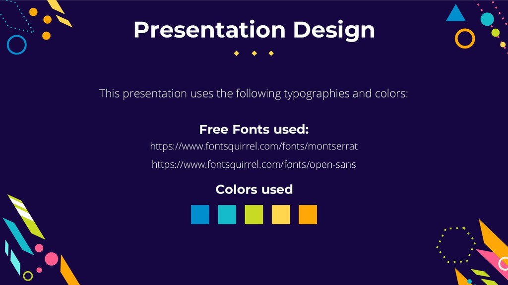 This presentation uses the following typographi...