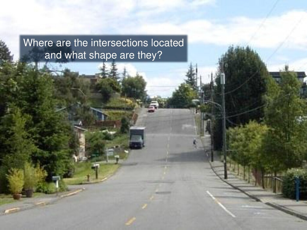 Where are the intersections located and what sh...