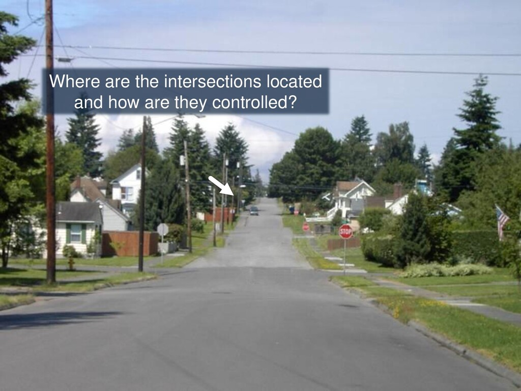 Where are the intersections located and how are...