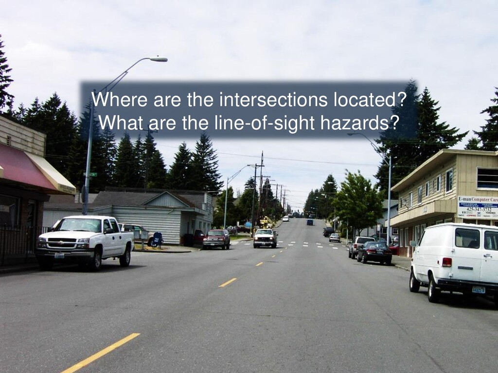 Where are the intersections located? What are t...