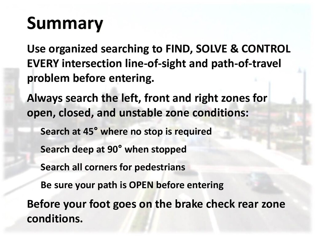 Summary Use organized searching to FIND, SOLVE ...