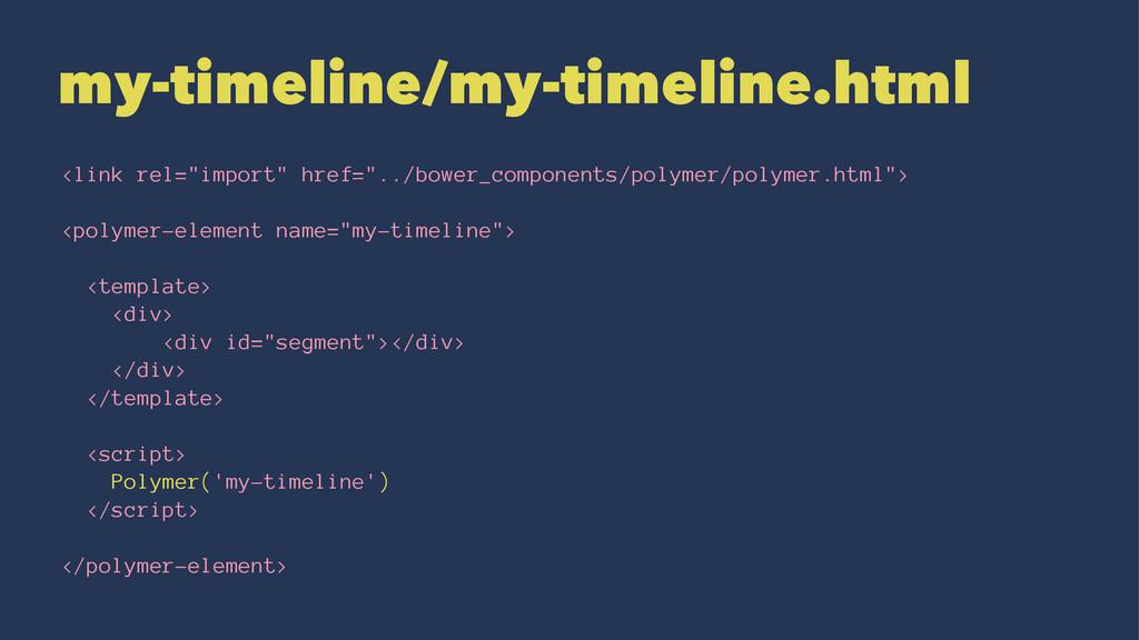 """my-timeline/my-timeline.html <link rel=""""import""""..."""
