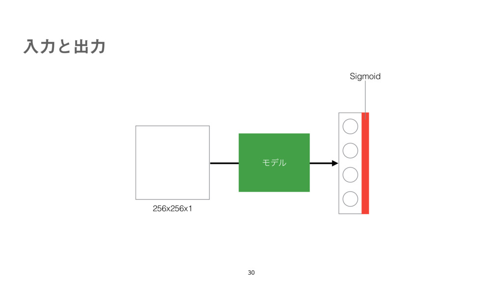 ೖྗͱग़ྗ 256x256x1 Ϟσϧ Sigmoid
