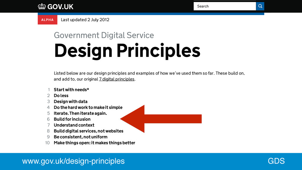 Government Digital Service Listed below are our...