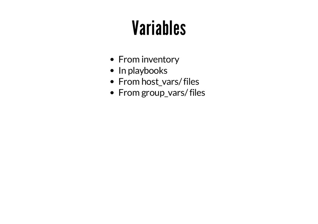 Variables From inventory In playbooks From host...