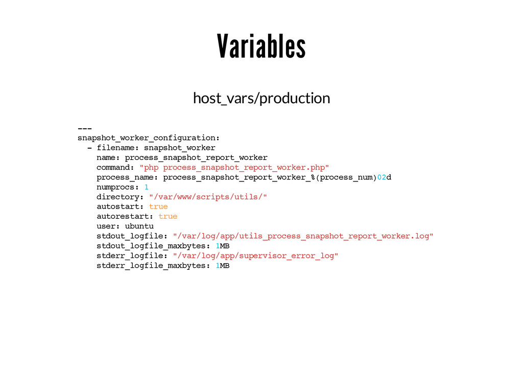 Variables host_vars/production --- snapshot_wor...