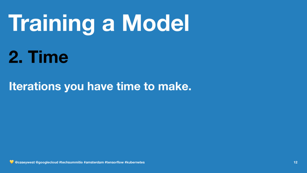 Training a Model 2. Time Iterations you have ti...