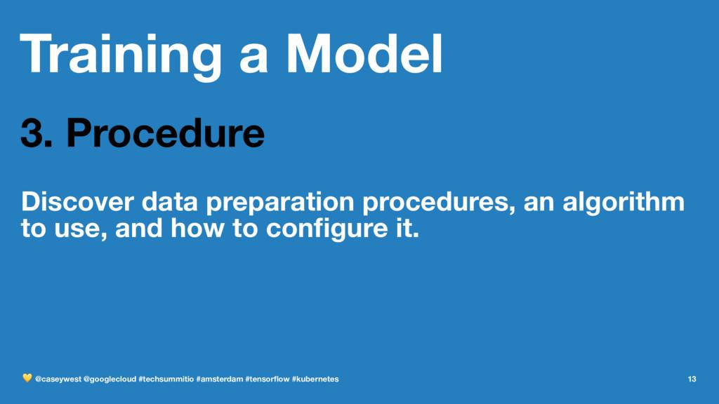 Training a Model 3. Procedure Discover data pre...