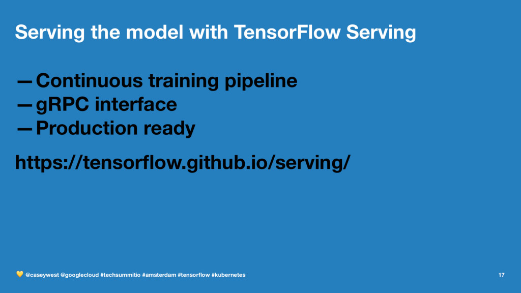 Serving the model with TensorFlow Serving —Cont...