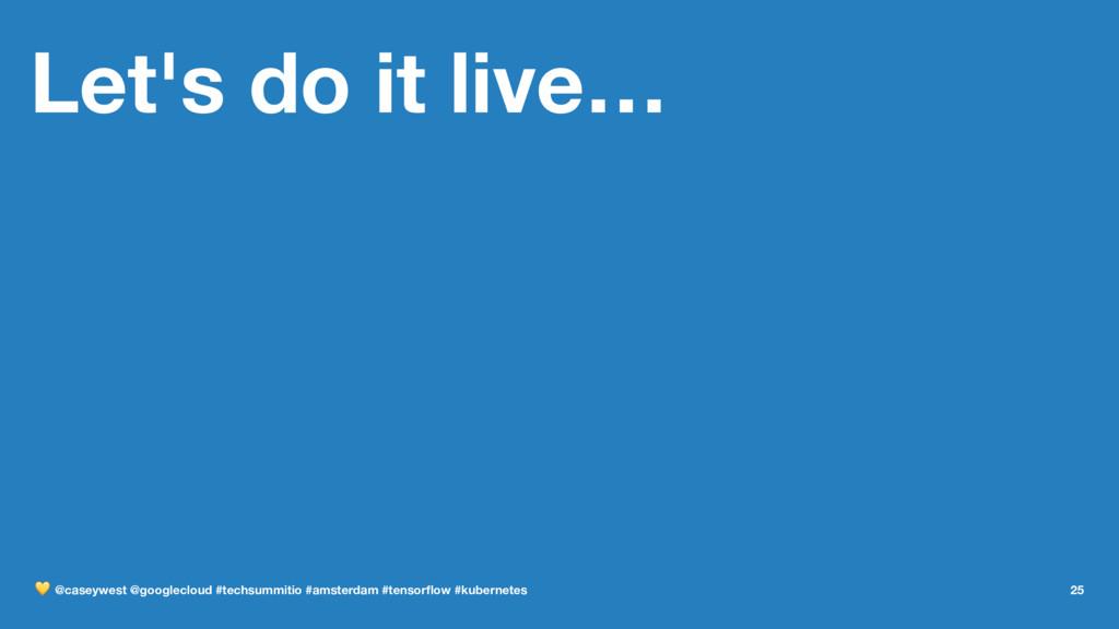 Let's do it live… ! @caseywest @googlecloud #te...