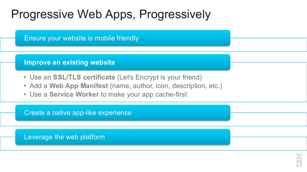 Progressive Web Apps, Progressively Ensure your...
