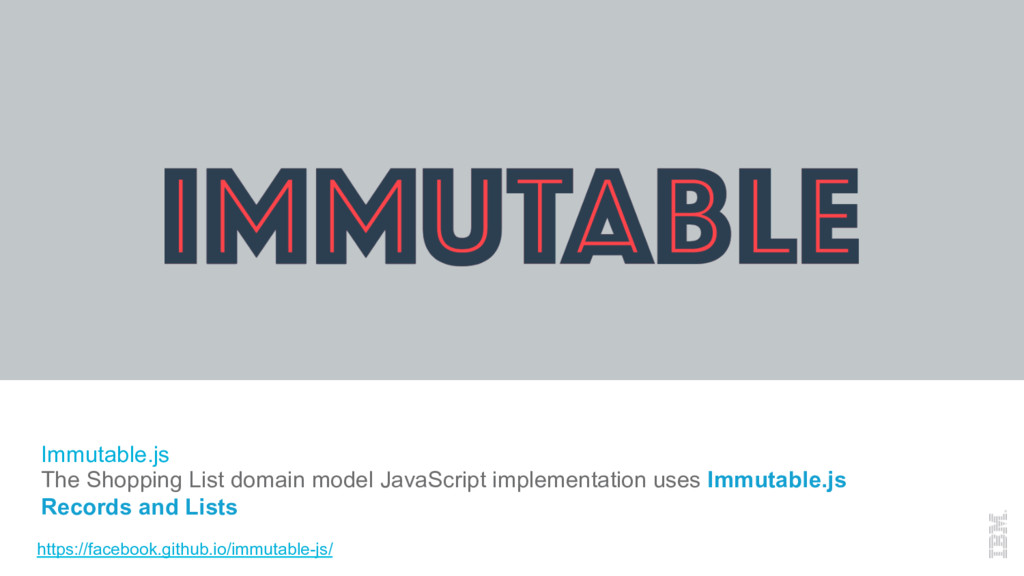 Immutable.js The Shopping List domain model Jav...