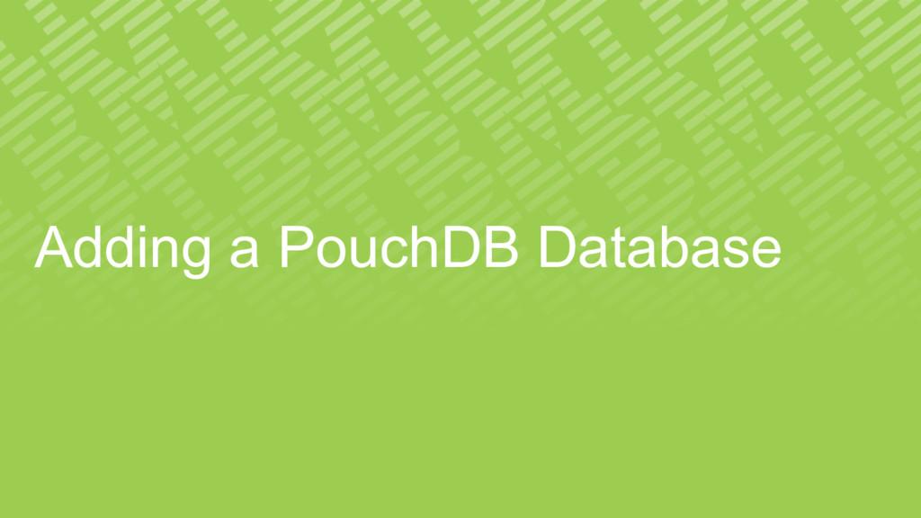 Adding a PouchDB Database