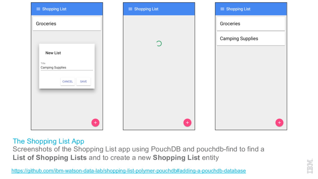 The Shopping List App Screenshots of the Shoppi...