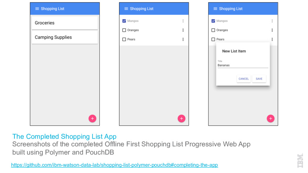 The Completed Shopping List App Screenshots of ...