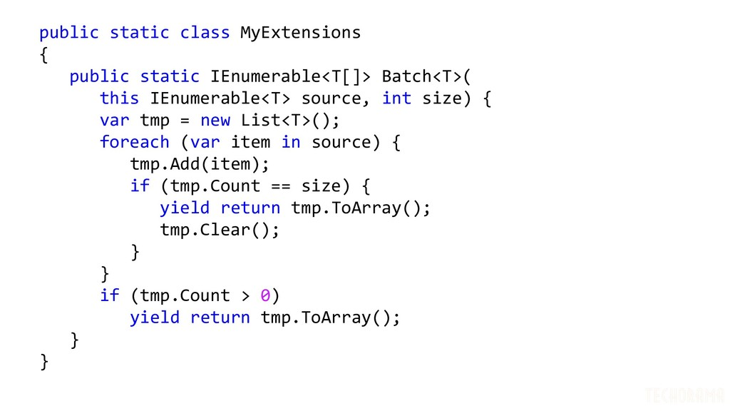 public static class MyExtensions { public stati...