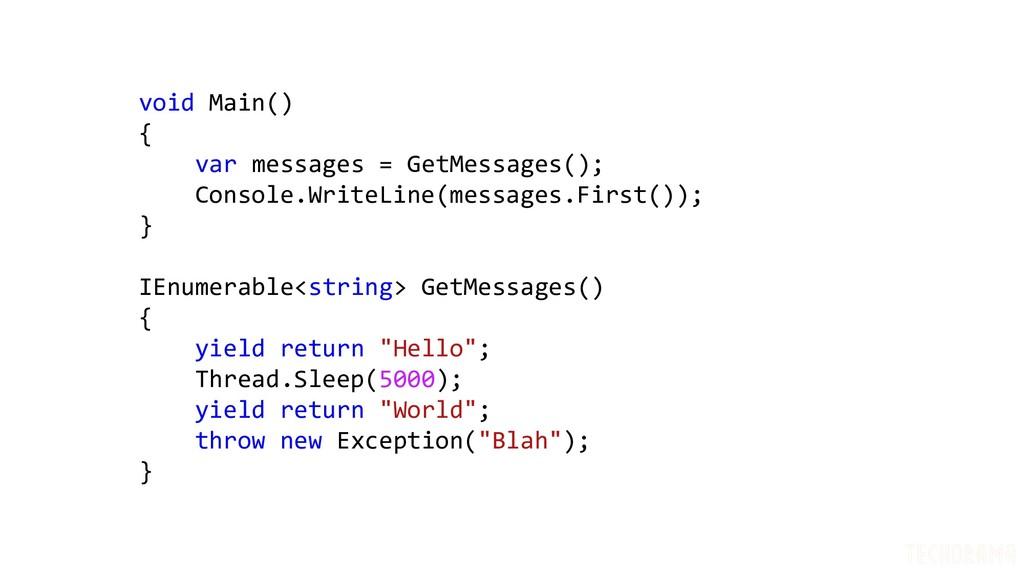 void Main() { var messages = GetMessages(); Con...
