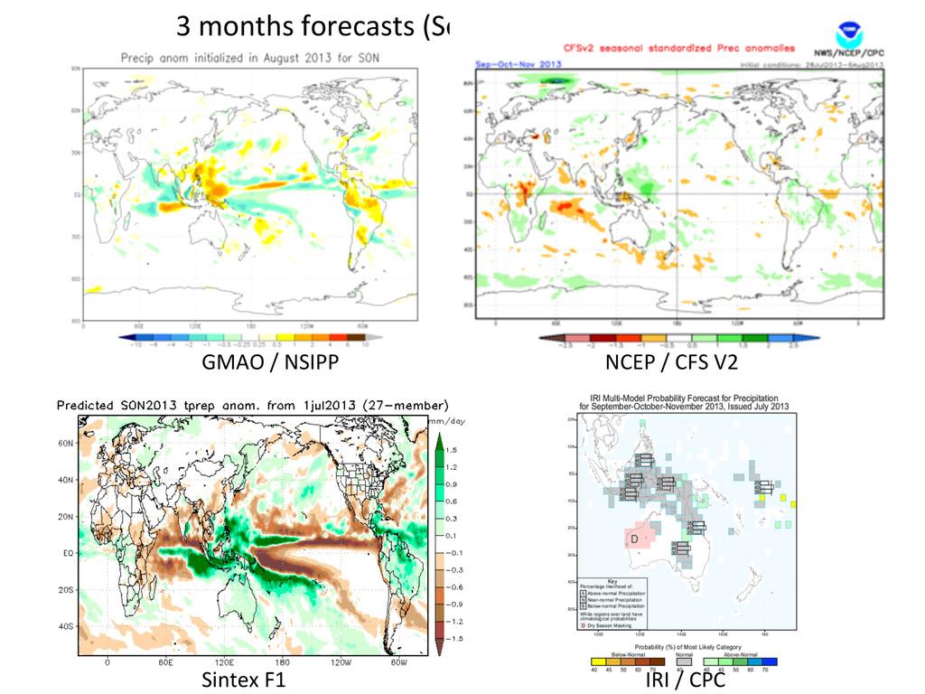 3 months forecasts (September – ...