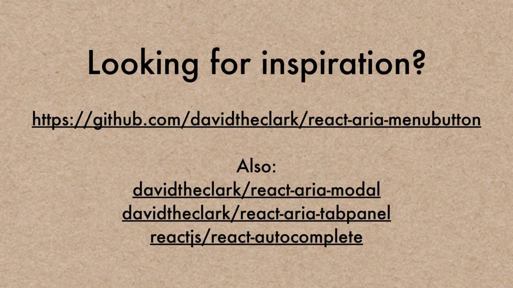 Looking for inspiration? https://github.com/dav...