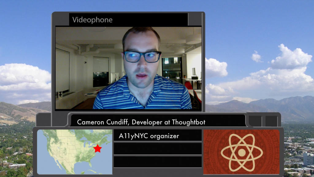 Cameron Cundiff, Developer at Thoughtbot A11yNY...