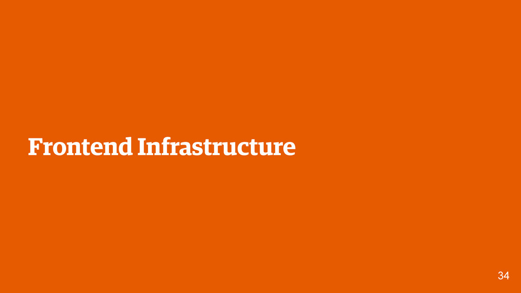 34 Frontend Infrastructure