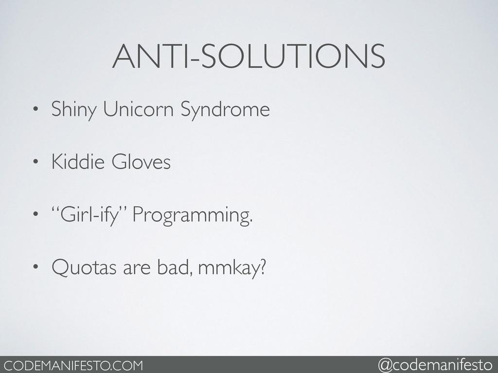 • Shiny Unicorn Syndrome  • Kiddie Gloves  ...