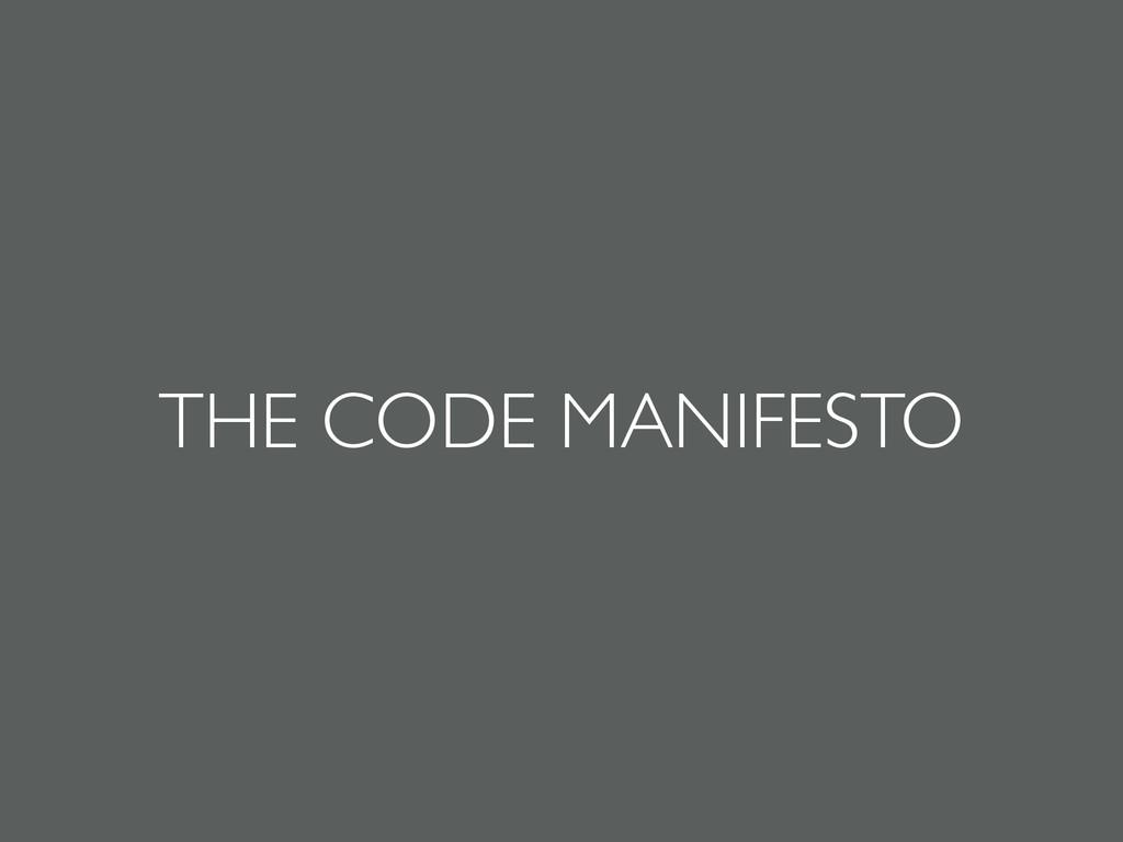THE CODE MANIFESTO
