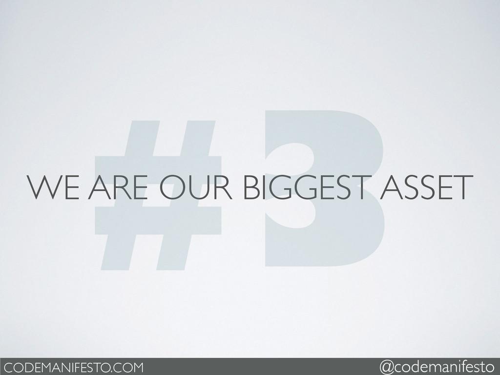 WE ARE OUR BIGGEST ASSET CODEMANIFESTO.COM @cod...