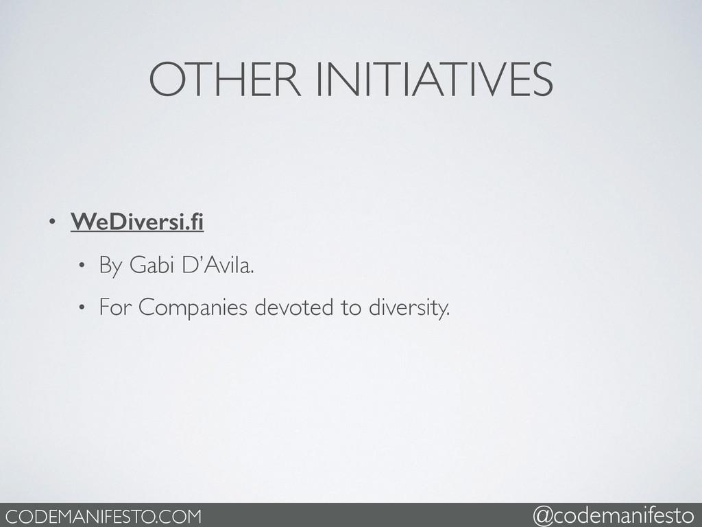 OTHER INITIATIVES • WeDiversi.fi • By Gabi D'Avi...