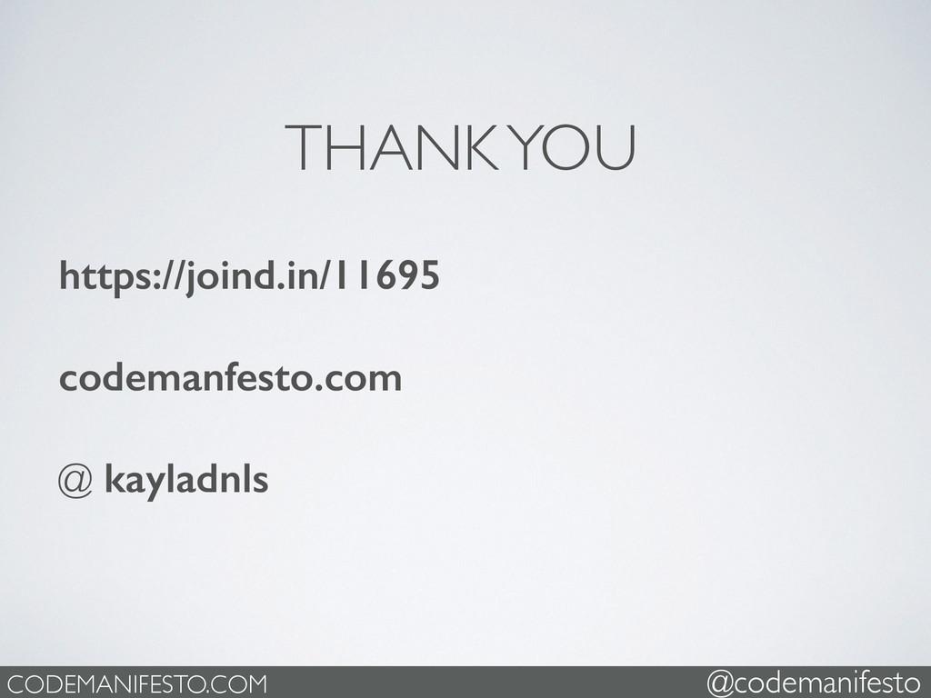 https://joind.in/11695 codemanfesto.com @ kayla...