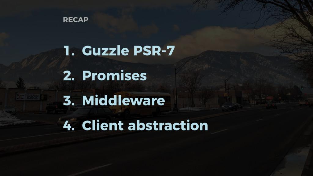RECAP 1. Guzzle PSR-7 2. Promises 3. Middleware...