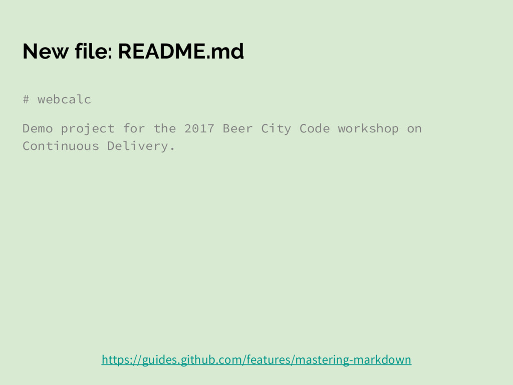 New file: README.md # webcalc Demo project for ...
